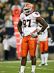 Illinois Fighting Illini defensive tackle Clay Nurse (97) gets a little rest in between plays during the 2010 Texas  Bowl football game between the Illinois  Fighting Illini and the Baylor Bears at the Reliant Stadium in Houston, Tx. Illinois defeats Baylor 38 to 14....