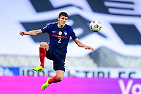 24th March 2021; Stade De France, Saint-Denis, Paris, France. FIFA World Cup 2022 qualification football; France versus Ukraine;  Benjamin Pavard (france) takes down a high ball