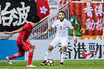 Mother Abu Amara of Jordan (R) in action during the International Friendly match between Hong Kong and Jordan at Mongkok Stadium on June 7, 2017 in Hong Kong, China. Photo by Marcio Rodrigo Machado / Power Sport Images
