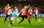 13-09-2017,Rotterdam, de Kuip, Voetbal, Champions League, Feyenoord-Manchester City 0-4<br /> foto Michael Kooren<br /> Gabriel Jesus , Sofian Amrabat