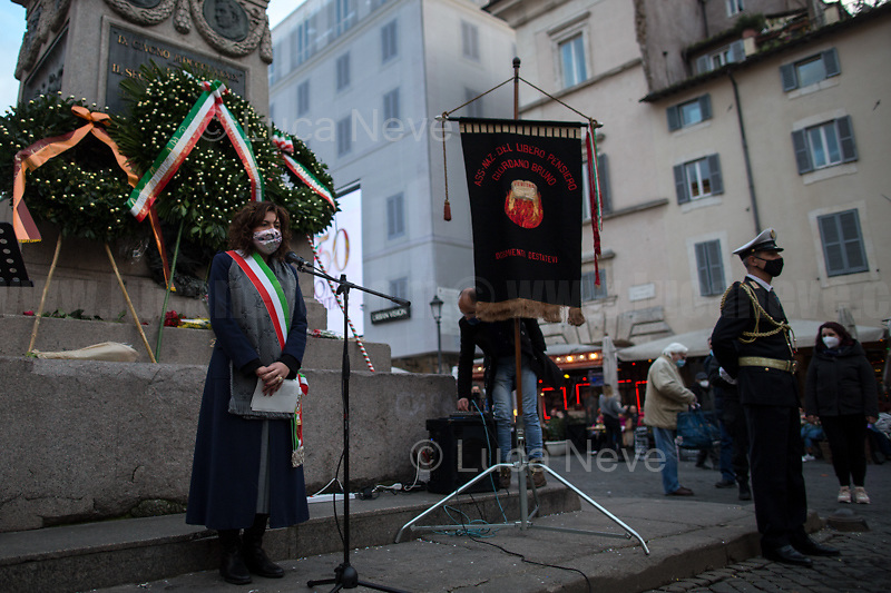 Lorenza Fruci (Culture Councilor of the Municipality of Rome, here on behalf of the Mayor of Rome Virginia Raggi).  <br />