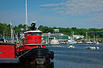 Boats in the harbor, Belfast, Knox County, Maine, USA