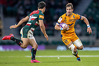 21st May 2021; Twickenham, London, England; European Rugby Challenge Cup Final, Leicester Tigers versus Montpellier; Vincent Rattez of Montpellier Rugby powers towards Matias Moroni of Leicester Tigers