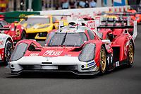 #708 Glickenhaus Racing Glickenhaus 007 LMH Hypercar, Luis Felipe Derani, Franck Mailleux, Olivier Pla, 24 Hours of Le Mans , Group Photo, Circuit des 24 Heures, Le Mans, Pays da Loire, France