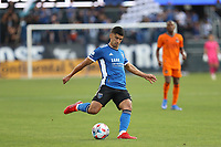 SAN JOSE, CALIFORNIA - JULY 24: Luciano Abecasis #2 of the San Jose Earthquakes during a game between Houston Dynamo and San Jose Earthquakes at PayPal Park on July 24, 2021 in San Jose, California.