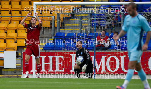 St Johnstone v Bristol City....28.07.12  Pre-Season Friendly.Jon Stead celebrates his goal.Picture by Graeme Hart..Copyright Perthshire Picture Agency.Tel: 01738 623350  Mobile: 07990 594431