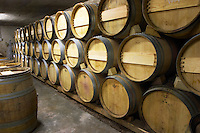 barrel aging cellar domaine alain voge cornas rhone france