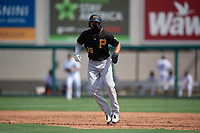 Pittsburgh Pirates Matt Gorski (25) leads off during a Florida Instructional League game against the Detroit Tigers on October 16, 2020 at Joker Marchant Stadium in Lakeland, Florida.  (Mike Janes/Four Seam Images)
