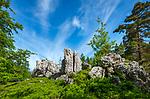Deutschland, Bayern, Niederbayern, Naturpark Bayerischer Wald, bei Viechtach: Grosser Pfahl | Germany, Bavaria, Lower-Bavaria, Nature Park Bavarian Forest, near Viechtach: Great Pfahl - quartz vein of 150 km length through the Bavarian Forest