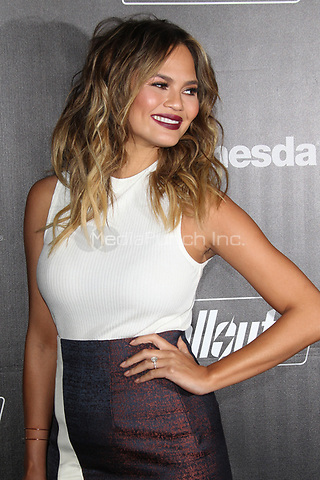 LOS ANGELES, CA - NOVEMBER 5: Chrissy Teigen at the Fallout 4 video game launch event in downtown Los Angeles on November 5, 2015 in Los Angeles, California. Credit: mpi21/MediaPunch
