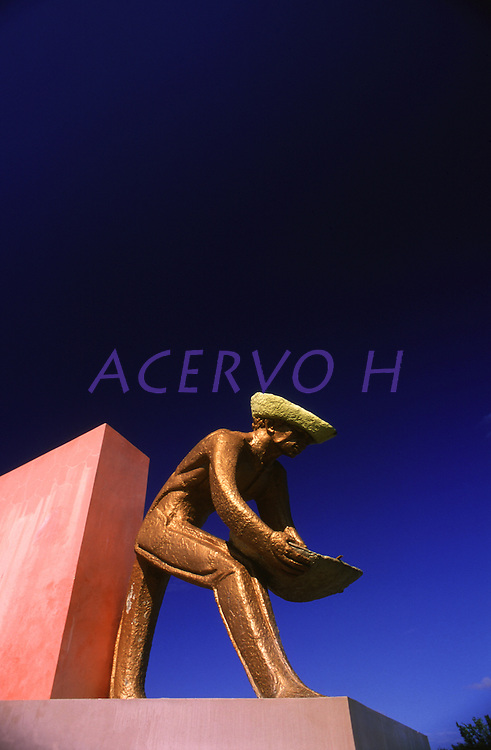 monumento em homenagem ao garimpeiro em Boa Vista - Roraima<br /> Foto Marcello Lourenço