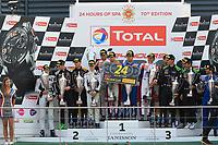 #12 OMBRA RACING (ITA) LAMBORGHINI HURACAN GT3 SILVER CUP ALEX FRASSINETTI (ITA) ANDREA RIZZOLI (ITA) ROMAIN MONTI (FRA) KANG LING (CHN) SILVER WINNER TOTAL 24H OF SPA<br /> #78 BARWELL MOTORSPORT GBR LAMBORGHINI HURACAN GT3 SILVER CUP MICHELE BERETTA (ITA) MARTIN KODRIC (HRV) SANDY MITCHELL (GBR) RIK BREUKERS (NDL) SILVER SECOND <br /> #6 BLACK FALCON (DEU) MERCEDES AMG GT3 SILVER CUP HUBERT HAUPT (DEU) GABRIELE PIANA (ITA) ABDULAZIZ AL FAISAL (SAU) MANUEL METZGER (DEU) SILVER THIRD