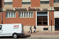 transport van , Bodegas Otero, Benavente spain castile and leon