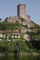 Europe/Europe/France/Midi-Pyrénées/46/Lot/Luzech: Château de Luzech ou Tour de Luzech et vallée du Lot