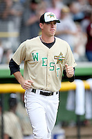 June 24, 2009: Dan Meadows of the Wisconsin Timber Rattlers at the 2009 Midwest League All Star Game at Alliant Energy Field in Clinton, IA.  Photo by: Chris Proctor/Four Seam Images