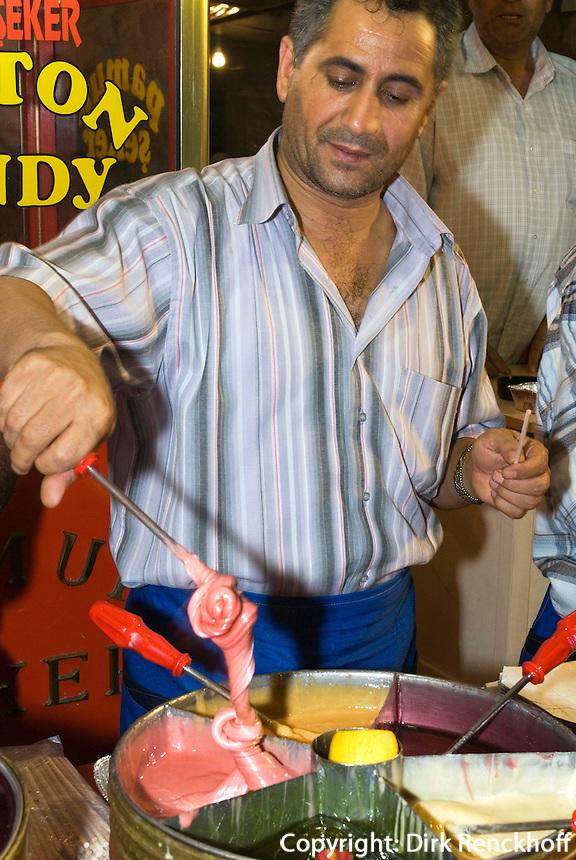 Türkei, Bonbon-Herstellung auf At Meydani in Istanbul