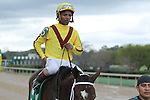 HOT SPRINGS, AR - MARCH 12: Jockey Ricardo Santana Jr. after winning the Honeybee Stakes aboard Terra Promessa (5) at Oaklawn Park on March 12, 2016 in Hot Springs, Arkansas. (Photo by Justin Manning)