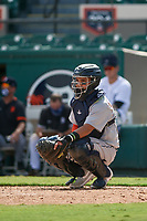 Detroit Tigers catcher Eliezer Alfonzo (53) during a Florida Instructional League intrasquad game on October 24, 2020 at Joker Marchant Stadium in Lakeland, Florida.  (Mike Janes/Four Seam Images)