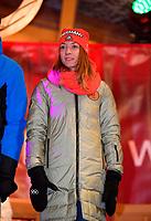 27.02.2018, Olympische Winterspiele 2018, Empfang der erfolgreichen Olympia-Sportlerinnen und Sportler aus dem Allgäu am Marktplatz Oberstdorf. Nicole Schott (GER, Eiskunstlauf) *** Local Caption *** © pixathlon