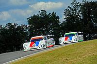 17-19  July, 2009, Birmingham, Alabama USA.The #58 Brumos Porsche/Riley of Darren Law & David Donohue leads teammates #59 Brumos Porsche/Riley of J.C. France & Joao Barbosa..©2009 F.Peirce Williams, USA.