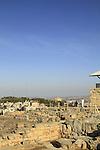 Samaria, a view of the Samaritan village Kiryat Luza from the archaeological site on Mount Gerizim