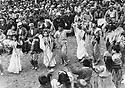 Iraq 1971<br /> In Galala, children dancing at a festival, in the crowd, Dr. Mahmud Osman, Franso Hariri, Shako Akrawi and   officials.  <br /> Irak 1971  Festival a Galala, les enfants dansent devant  la foule , parmi les officiels, premier rang, Dr.Mahmoud Osman, Franso Hariri, maire de Galala, Shako Akrawi