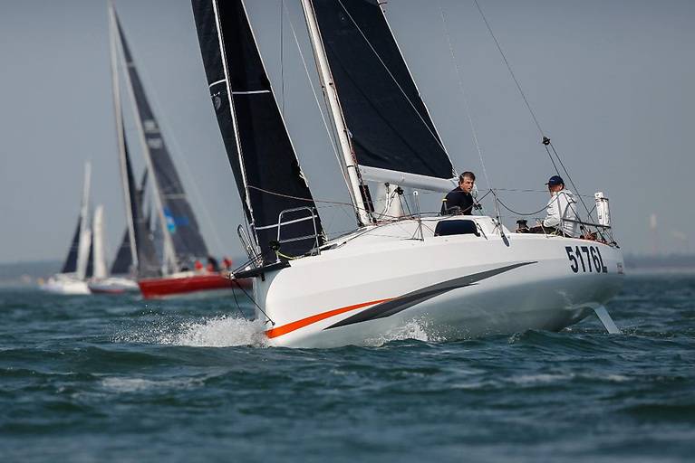 A record number of yachts will be competing Two-Handed in IRC, including 2015 winners Kelvin Rawlings and Stuart Childerley racing the Sun Fast 3300 Aries © Paul Wyeth/pwpictures.com