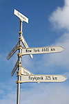 Artic Circle sign, Grimsey, Iceland