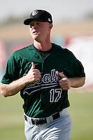 Daniel Stange of the Visalia Oaks during a California League baseball game on April 9, 2007 at Stater Bros. Stadium in Adelanto, California. (Larry Goren/Four Seam Images)