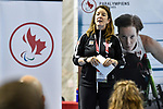 MONTREAL, QC - APRIL 29:  Jenny Davey speaks to attendees during the 2017 Montreal Paralympian Search at Complexe sportif Claude-Robillard. Photo: Minas Panagiotakis/Canadian Paralympic Committee