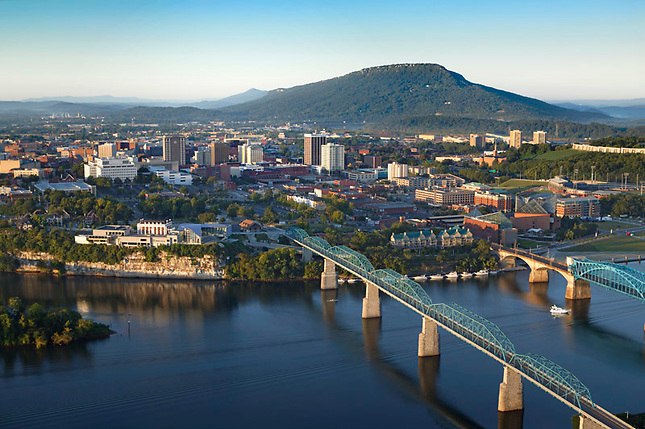 Aerial photo Chattanooga, Tennessee River