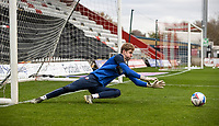 Bolton Wanderers' Matthew Alexander warming up before the match <br /> <br /> Photographer Andrew Kearns/CameraSport<br /> <br /> The EFL Sky Bet League Two - Stevenage v Bolton Wanderers - Saturday 21st November 2020 - Lamex Stadium - Stevenage<br /> <br /> World Copyright © 2020 CameraSport. All rights reserved. 43 Linden Ave. Countesthorpe. Leicester. England. LE8 5PG - Tel: +44 (0) 116 277 4147 - admin@camerasport.com - www.camerasport.com