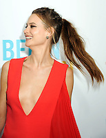 """NEW YORK CITY, NY, USA - JUNE 25: Model Behati Prinsloo arrives at the New York Premiere Of The Weinstein Company's """"Begin Again"""" held at the SVA Theatre on June 25, 2014 in New York City, New York, United States. (Photo by Celebrity Monitor)"""
