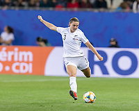 GRENOBLE, FRANCE - JUNE 15: Anna Green #3 of the New Zealand National Team passes the ball during a game between New Zealand and Canada at Stade des Alpes on June 15, 2019 in Grenoble, France.