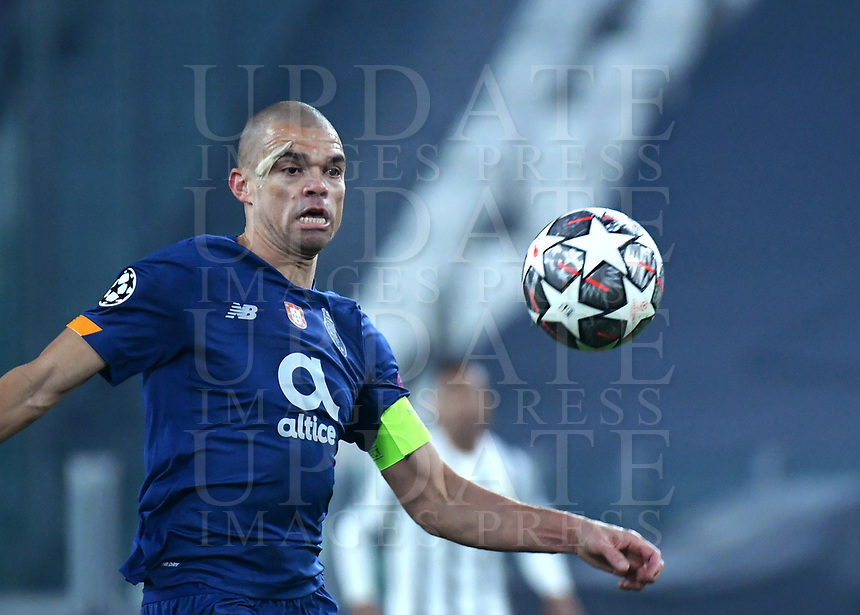 Football Soccer: UEFA Champions League -Round of 16 2nd leg Juventus vs FC Porto, Allianz Stadium. Turin, Italy, March 9, 2021.<br /> Porto's captain Pepe in action during the Uefa Champions League football soccer match between Juventus and Porto at Allianz Stadium in Turin, on March 9, 2021.<br /> UPDATE IMAGES PRESS/Isabella Bonotto