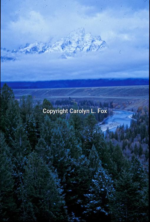 The Teton Mountain Range is located in Jackson Hole, Wyoming.