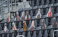WASHINGTON, DC - SEPTEMBER 12: Fans watching the game during a game between New York Red Bulls and D.C. United at Audi Field on September 12, 2020 in Washington, DC.