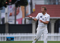 Neil Wagner bowls during day two of the Plunket Shield men's cricket match between Wellington Firebirds and Northern Districts at the Basin Reserve in Wellington, New Zealand on Sunday, 28 March 2021. Photo: Dave Lintott / lintottphoto.co.nz
