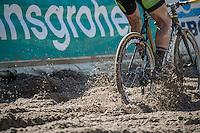 descending into the infamous 'Pit' <br /> <br /> U23 mens race<br /> CX Superprestige Zonhoven 2016