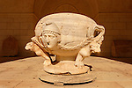 Jerusalem, Rockefeller Museum in East Jerusalem, a Roman marble basin from the first century A.D.<br />