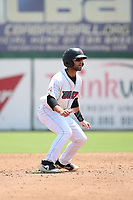 Mike Stefanic (23) of the Inland Empire 66ers runs the bases during a game against the Lake Elsinore Storm at San Manuel Stadium on June 5, 2019 in San Bernardino, California. (Larry Goren/Four Seam Images)