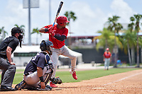 Philadelphia Phillies Kervin Pichardo (27) bats during an Extended Spring Training game against the New York Yankees on June 22, 2021 at the Carpenter Complex in Clearwater, Florida. (Mike Janes/Four Seam Images)