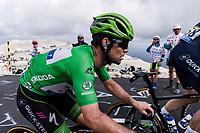 green jersey Mark Cavendish (GBR/Deceuninck-Quick Step)  up the famed Mont Ventoux<br /> <br /> Stage 11 from Sorgues to Malaucène (198.9km)<br /> 108th Tour de France 2021 (2.UWT)<br /> <br /> ©kramon