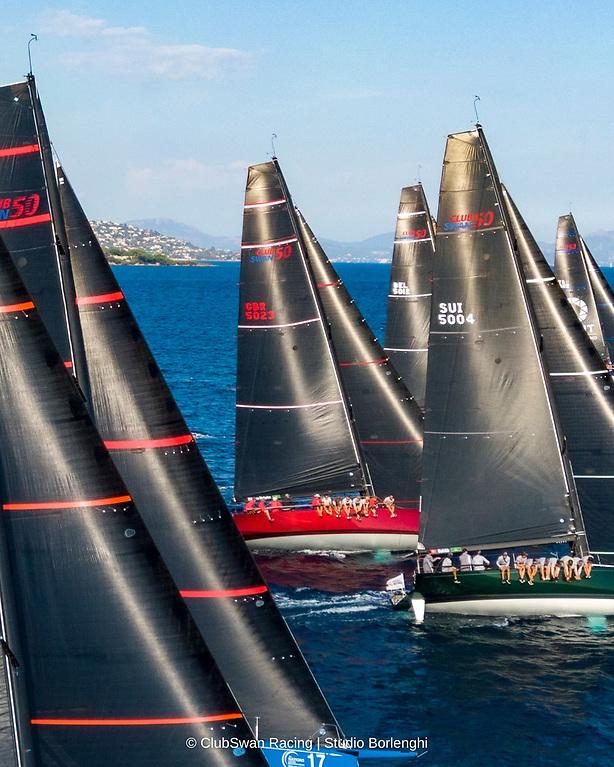 Club Swan 50 racing in Saint Tropez Photo: Studio Borlenghi