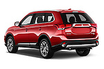 Car pictures of rear three quarter view of 2017 Mitsubishi Outlander GT 5 Door SUV Angular Rear