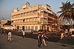 Morning walkers at the beach road in Pondicherry. Arindam Mukherjee