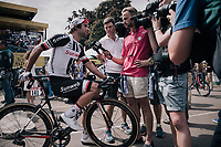 Michael Matthews (AUS/Sunweb) interviewed at the stage start<br /> <br /> 104th Tour de France 2017<br /> Stage 7 - Troyes › Nuits-Saint-Georges (214km)
