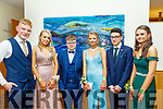 L-R Colin Roche, Cád O'Mahon, Ronnie Mallon, Siobhan Brosnan, Guy Watson and Aisling Kearney enjoying the Presentation Secondary school Castleisland Debs last Friday night in the Ballyroe heights Hotel, Tralee.