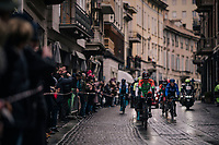 breakaway group rolling through town<br /> <br /> 109th Milano-Sanremo 2018<br /> Milano > Sanremo (291km)