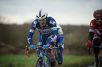 Marco Marcato (ITA/Wanty-Groupe Gobert) peddeling along in the first group over the first cobbled sections<br /> <br /> GP Samyn 2016
